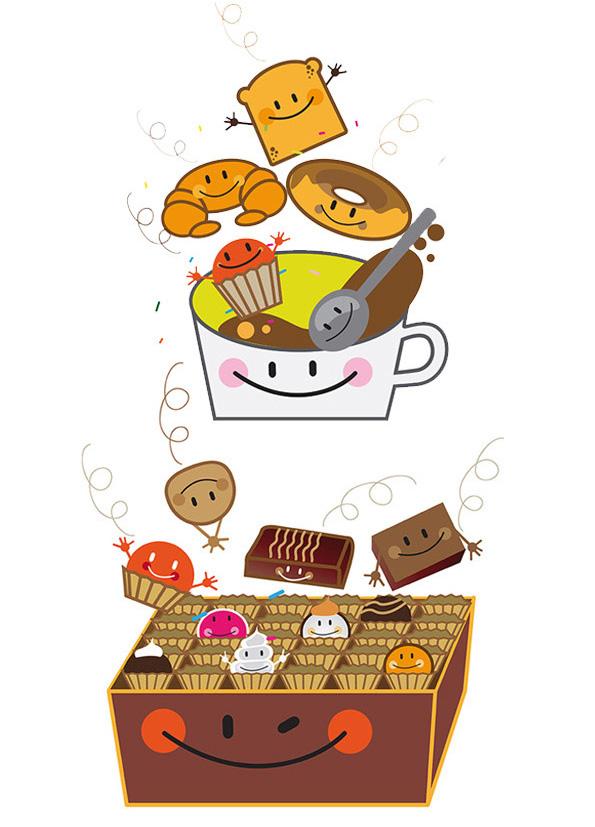 ilustración franquicia heladerías