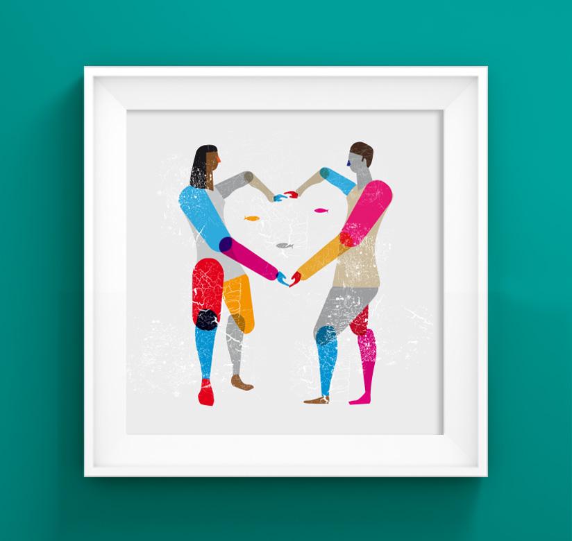 Ilustración Enamorados