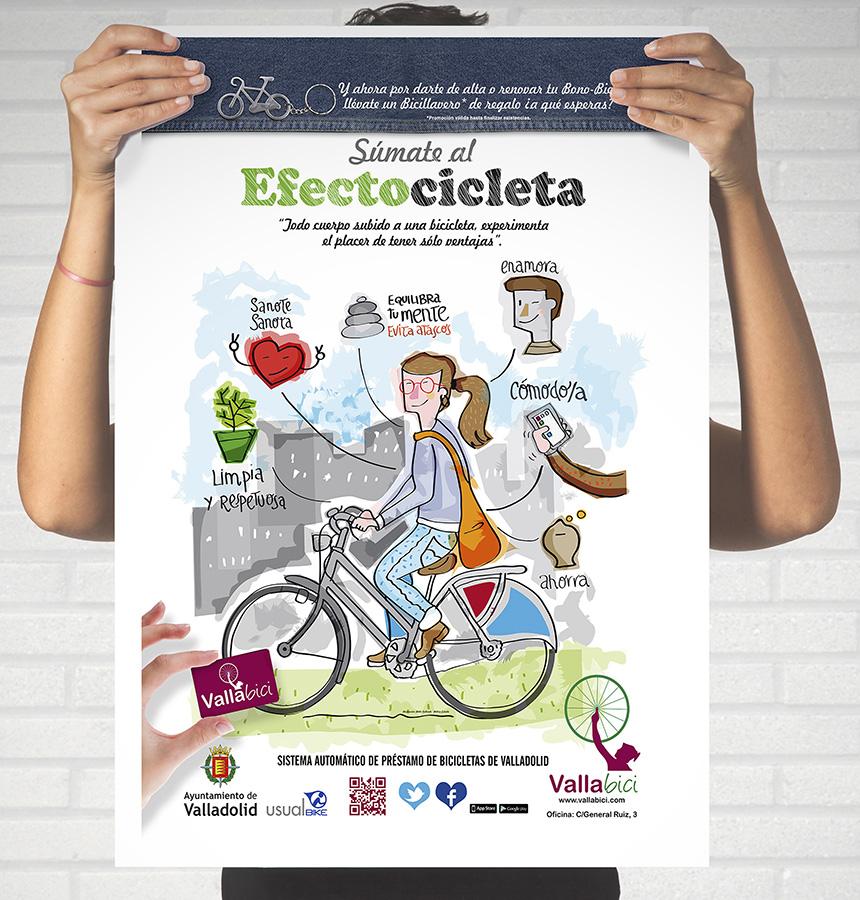 Ilustración para campaña de bicicleta