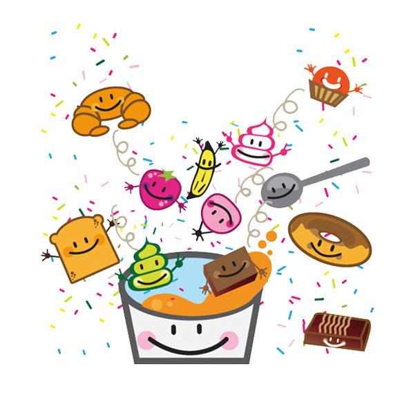 ilustración cafeterías heladerías