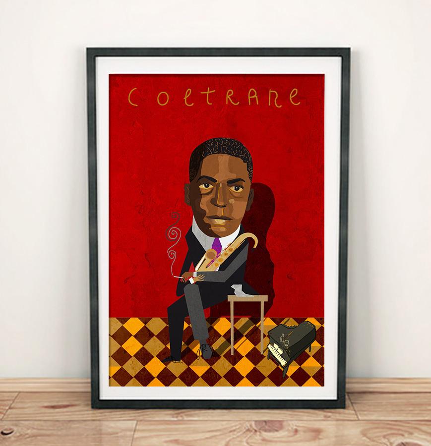 Retrato de John Coltrane