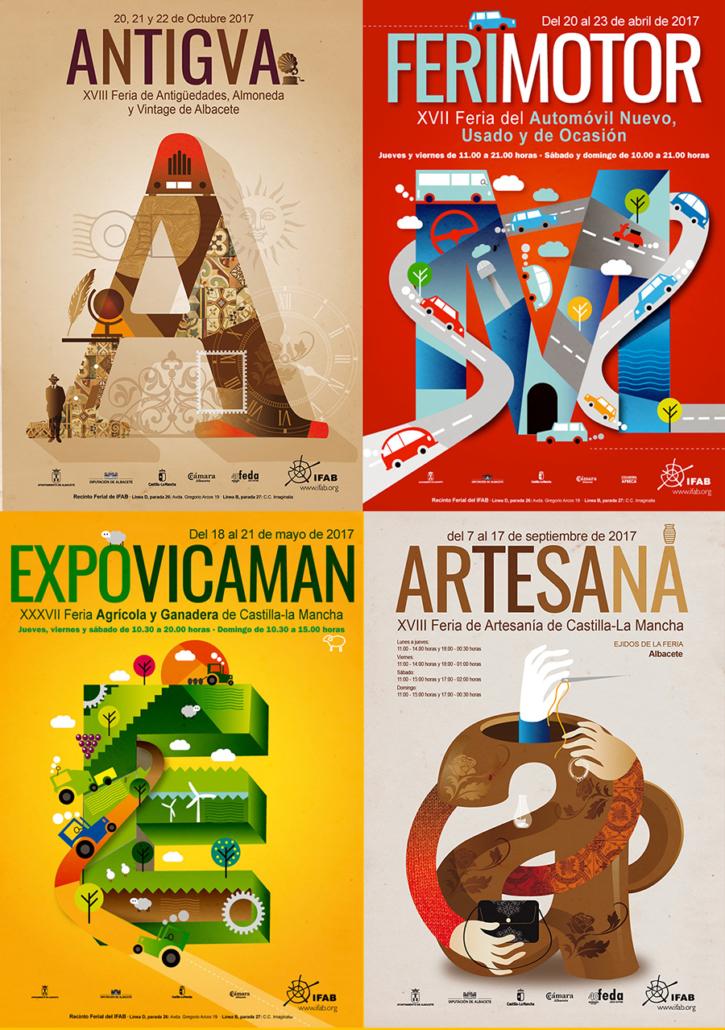 Diseño de carteles Ferias