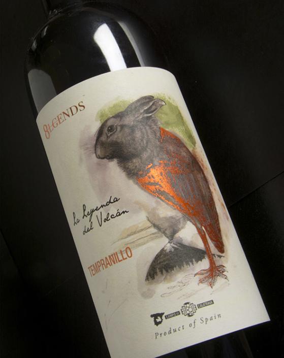 etiquetas vinos volcan