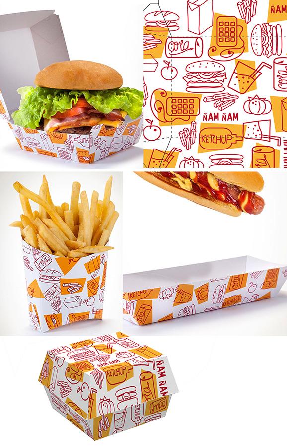 diseños estuches fast food