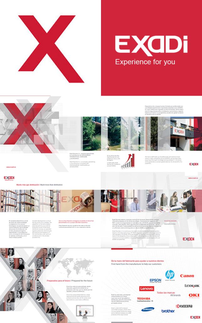 Diseño de marca y catálogo EXADI