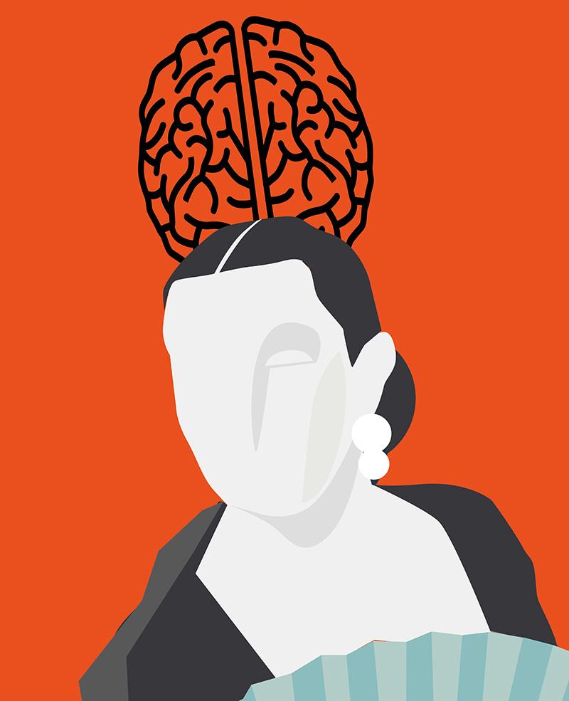 Peineta cerebro
