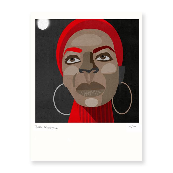 Retrato de Nina Simone